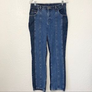 Wrangler 2 Tone Color Block Jeans